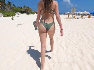 Bikini beach candid...