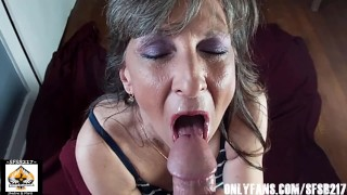 Sexy Granny Craves Her Protein Cumshot Compilation