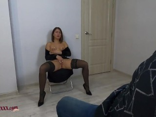 The Secretary Likes To Follow Any Commands Of Her Boss, Cum Swallow