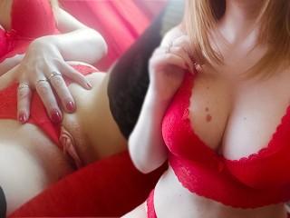 Pussy passionately masturbates to powerful orgasm...