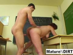 Pupil Enjoys The Sexual Company Of Mature Teacher