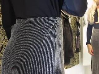 Girl shows her ass...