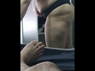 Step mom stuck into step son dick and fuck like rabbits