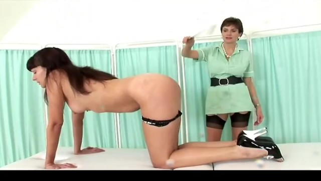 INXESSE RADICAL LADY SONIA PRESENTS MASSAGE TABLE SPANKING DOUBLE - BRITISH BLONDE BIG TIT MILF 3
