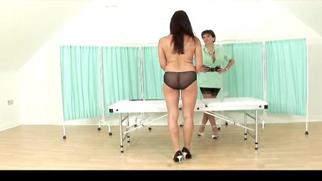 INXESSE RADICAL LADY SONIA PRESENTS MASSAGE TABLE SPANKING DOUBLE - BRITISH BLONDE BIG TIT MILF 27