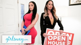 GIRLSWAY Sheena Ryder Tries The Bed With The Estate Agent