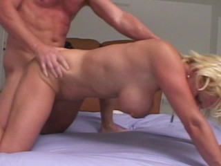 Blonde with BIG Tits give Massage get Titty Fucked Cum on Twice Fucked by MILF Hunter