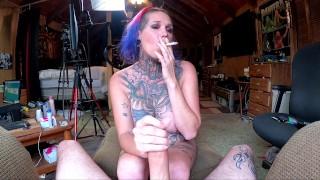 Chassidy Lynn - 4K, POV, Smoking MILF Sucks COCK, Smoking Hand Job, Rides COCK