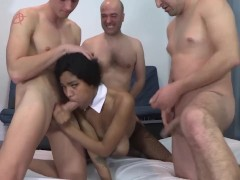Tina And Her Supertits In An Assfucking Gang-fuck With 8 Dudes