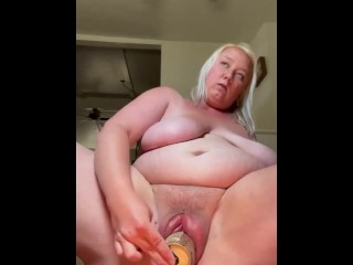 Sis with pumped up pussy fucks monster can...