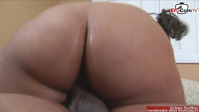 Horny fat black slut with fat tits and plump ass wants to get fucked by a short guy with a big dick 1