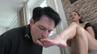 Mistress feet cleaner
