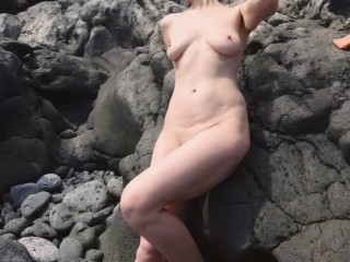 Nude walk beach...