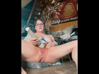 Full video fucking my fat a dildo and...