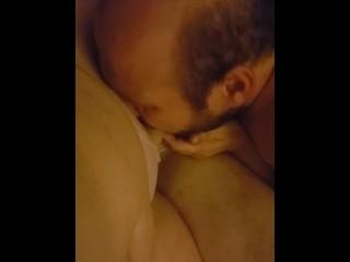 Bi husband cock while wife is asleep...