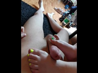 Hard with neon nails 1...