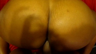 FUCKING STEPMOM WHILE DAD IS IN THE OTHER ROOM AND CUMMING ON HER PHAT BLACK ASS