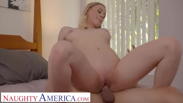 Naughty America - Blonde Amber Moore takes nude pics of friend's brother before getting her pussy ea