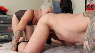 Sissy slut getting fucked hard by his mistress in boots part 1 of 3