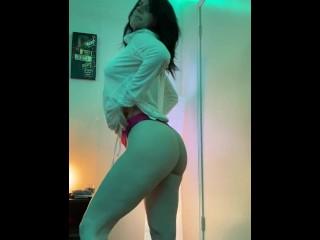 Long Slow Striptease Showing Off My 34DDD's