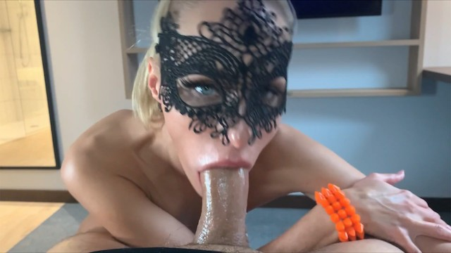 Tinder date ends with romantic deepthroat and ass fuck | Masked model | Saliva Bunny