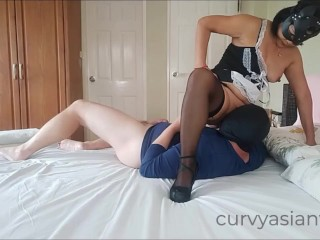 Asian maid could not resist cock PART 1