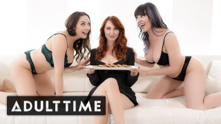 ADULT TIME - The Lesbian MILFs Next-door Take Turns On Lonely Housewife Kendra James
