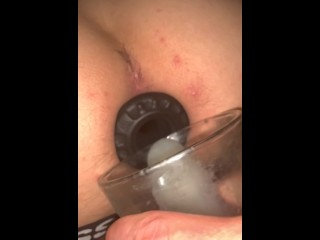 Daddy dumping 6 strangers loads into stretched hole...