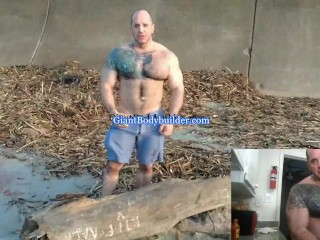 Muscle guy in the beach...