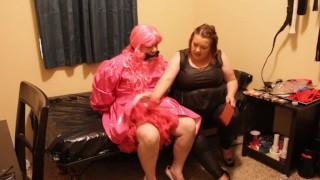 Mistress destroys sissy husband