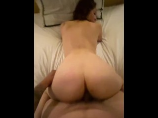 I love riding my bf hard cock (Homemade real video)