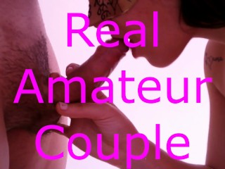 First Footjob and Cumshot – Real Amateur – Alessia and Erik