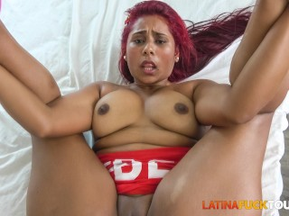 Latina redhead fucked...