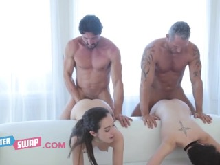 Horny Stepdads Tricked Innocent Teens Cadey Mercury & Lily Jordan And Magically Strip And Fuck Them