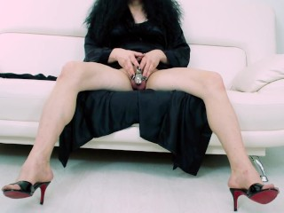 Bare from sissy queen chastity cum pedicure by...