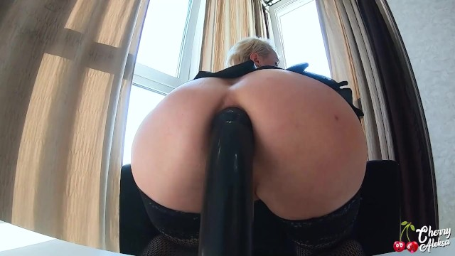 Hot Wife in Stockings Deepthroat Big Cock and had Anal Sex until Facial Cumshot 15