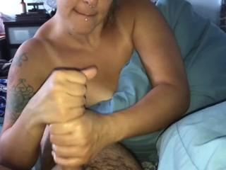 Horny stepmom gives stepson...
