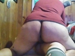 Huge bouncy jiggly shemale dominates tiny married women...