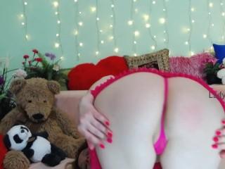 Redhead russian webcam model sensual striptease...