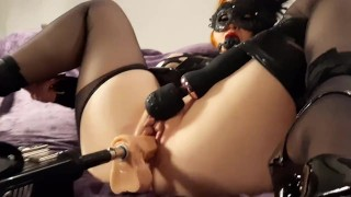 Busty Red Head Bound & Fucked In Both Holes By Machine (Multiple Orgasms)