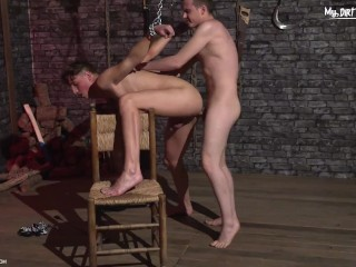 Dick whilst chained to a chair hardcore...