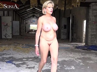 Naked at the old factory...