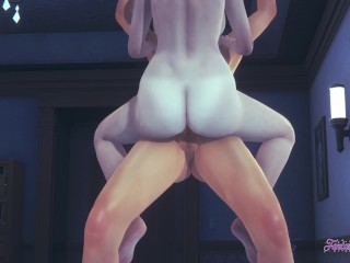 Attack on titans dominat annie handjob fucked with...