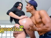 CARNEDELMERCADO - MARIA DEL ROSARIO CHUBBY LATINA COLOMBIANA RIDES A THICK COCK! FULL SCENE amareur