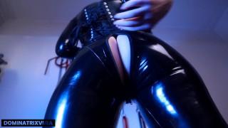 Latex Catsuit Ass Focused JOI/CEI (preview) - Miss Vera Violette