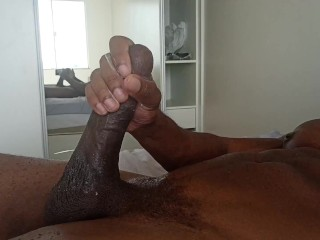Dick jacking off and cumming...