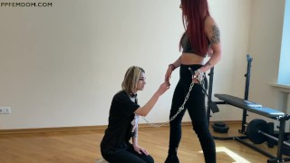 Mistress Sofi Train Her Sub-Girl - Lezdom Pet Play