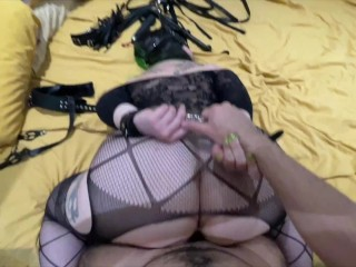 Big Ass Girl Having Multiple Orgasms in Rough Sex Restrained (Cum in Ass)