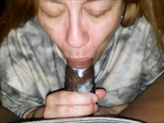 Granny took a mouth full...
