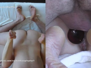 Wife Takes Double Vaginal Penetration Creampie